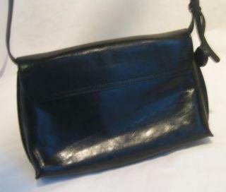 Monsac Black Leather Purse Handbag
