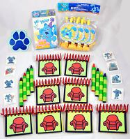 Blues Clues Birthday Party Favors Pack Laminated Handy Dandy Notebooks Crayons