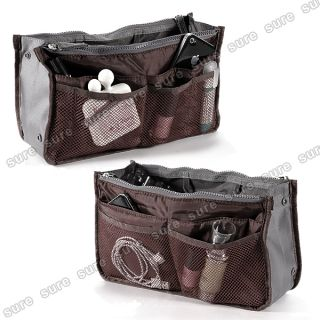 Lady Women Insert Handbag Cosmetic Purse Removable Organizer Tidy Travel Case