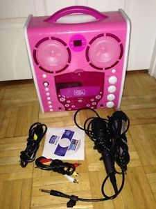 ASIS Local Pickup Karaoke Singing Machine SML383P SML 383P Pink 2 Microphones