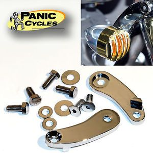 Details about TURN SIGNAL MOUNT RELOCATION KIT HARLEY 1989 08 FXSTS