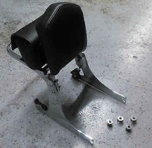 Harley Dyna Detachable Sissy Bar Backrest with Mount Kit Pad Bag and Bag Rack