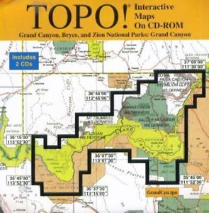 Topo Grand Canyon Bryce Zion National Parks PC CD