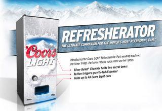 Coors Light Refresherator Beer Refrigerator and Vending Machine Brand New