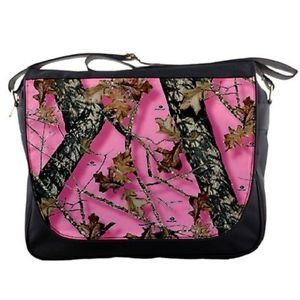 Womens Girls Pink Real Tree Camo Messenger Bag Laptop Computer Free Shipping