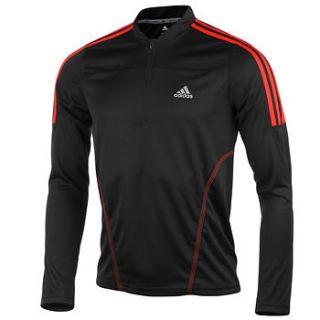 Adidas Response Mens Long Sleeve ClimaLite Running Training T Shirt Half Zip Top
