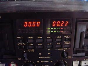 Marantz PMD510 Professional Rack Mount Dual Cassette Deck for Parts or Repair