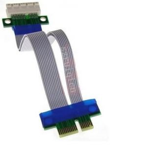 PCI E 1x Riser Card PCI Express Ribbon Extender Cable
