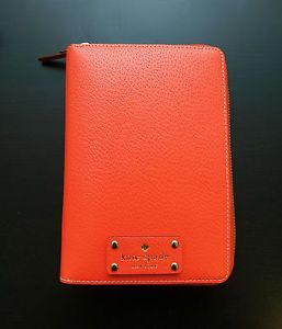 New Kate Spade Wellesley 2013 Coral Zip Around Personal Planner Organizer