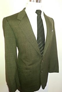 Mens Jacket 38 39R Gieves Hawkes Black Tan Wool Suit Blazer Sport Great