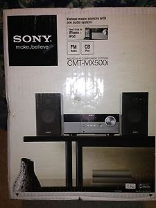 Sony CMT MX500I Micro Shelf System Speaker Dock for iPod New