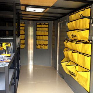 Med Yellow Tool Tamer Portable Tool Pouch for Organizing Cargo Trailers