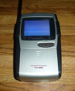 """Casio TV 880 2 3"""" Portable Handheld Color TV LCD Television"""