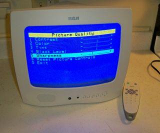 """RCA Model E13344 13"""" CRT Portable Personal TV Kitchen Cabin with Remote"""