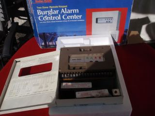 Radio Shack 2 Zone Burglar Fire Alarm System Used and Siren