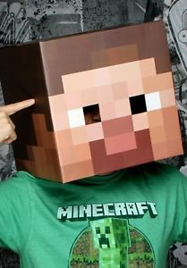 Printable Steve Head and Sword from Minecraft Unofficial DIY Costume Halloween