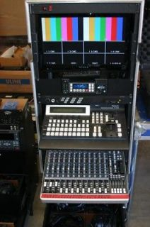Professional Video Audio Mobile Flypack Live Production Switcher Mixer Rack Unit