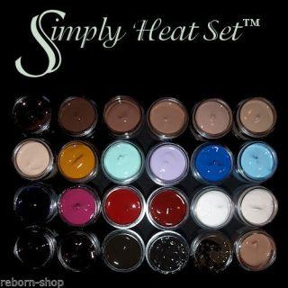 Simply Heat Set 10ml Paint Colours Hair Texture Reborn Vinyl Doll Kit Artistry