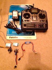 RC Futaba Transmitter T6XA 2 Brushless Motors Speed Control 2 Receivers