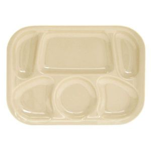 New 12 PC Divided Compartment Cafeteria Server Food Plate Buffet Tray Dish