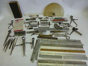 Large Lot Assorted Machinist Tools Starrett Brown Sharpe Calipers Rulers