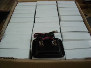 """60 Pcs Guitar Speaker Cabinet Input Jack Plate Dish with 1 4 """" Jacks and Wires"""