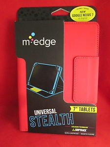 """New M Edge Universal Stealth 7"""" Tablet Folding Folio Case Cover Red"""