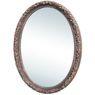 Camille Antique Oval Medicine Cabinet with Mirror Surface Mount Venetian Bro