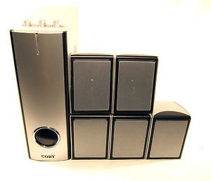 Coby CS P63 5 1 Surround Sound Home Theater Speaker System 5 1 Input Sub Center