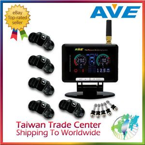Ave TPMS 5 Sensors Tire Pressure Monitoring System Monitor Spare Tire