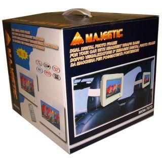 """Majestic Mon 7070 Doppio Monitor Da Auto Poggiatesta Schermo LED LCD 7"""" SD USB"""