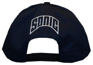 Sonic The Hedgehog Sega Face Video Game Snapback Flat Bill Hat Cap