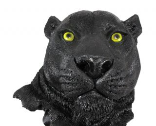 Black Panther Head Mount Wall Statue Bust 9 1 2 Inch