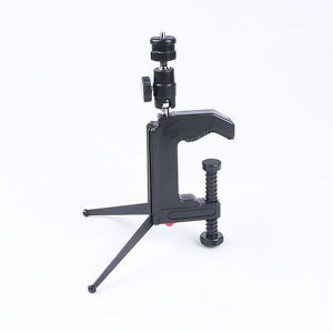 Mini Table Clamp Desktop Tripod with Ball Head for DSLR SLR Camera DV Camcorder