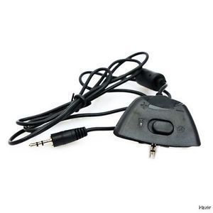 Microsoft Xbox 360 Live Puck Wired Headset Cable Adapter to Controller New