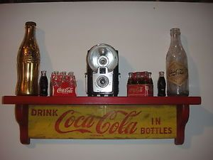 Coca Cola Retro Wooden Wall Display Shelves Crafted from 1960's Original Cases