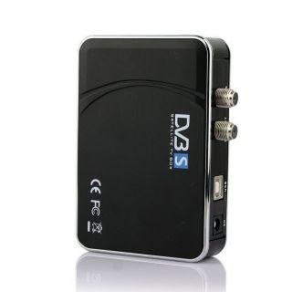 Digital Satellite DVB s USB TV Receiver Card Tuner Box w Remote