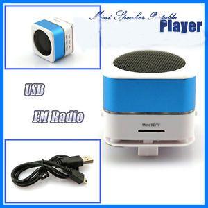Micro SD TF USB Mini Speaker Music Player Portable FM Radio PC  IP20
