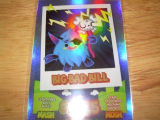 Moshi Monsters Mash Up Rainbow Foil Card Big Bad Bull