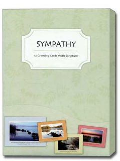 Faithful Wishes Box of 12 Assorted Scriptured Sympathy Cards with Envelopes