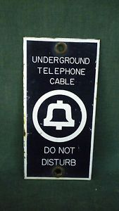 Vintage Bell Telephone Sign
