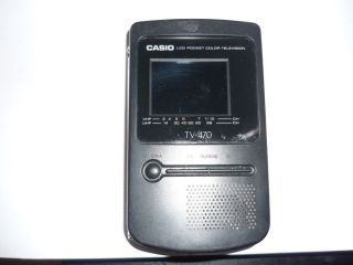 "Retro Vintage Casio TV 470 Portable 2"" LCD Color Television RARE Fast Shipping"
