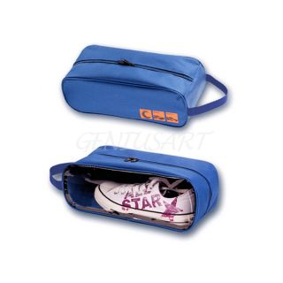 New Waterproof Shoe Bag Travel Storage Case Tote Handbag Outdoor Travel Blue