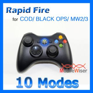 Modded Xbox 360 Controller Rapid Fire 10 Mode Cod Ops MW2 MW3 Blue LED