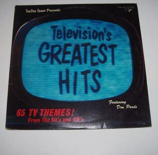 2 LP Set 1950's 1960's Televisions Greatest Hits Don Pardo Munsters Batman
