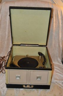 Philco Twin Speakers Vintage Record Player Portable Turntables