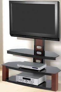 Flat Panel Tv Stand With Bracket Mount Cherry Z Line Jaguar Fits Up