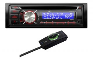 JVC KD R443 Car Stereo CD MP3 USB Android Ready KS BTA100 Bluetooth Adaptor