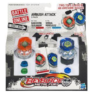New Beyblade Metal Fury Faceoff Ambush Bakushin Susanow Spiral Herculeo