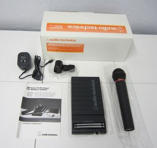 Audio Technica ATW 0322 Handheld VHF Wireless Microphone System New in Box